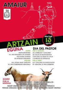 cartel Día del pastor en Amaiur 2018
