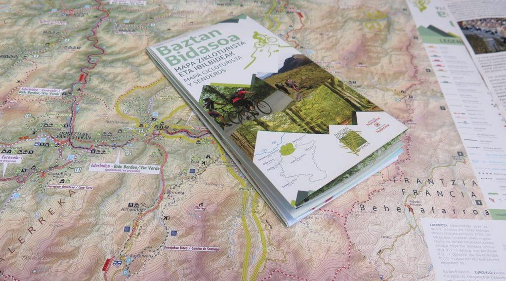Mapa CicloTurista y de senderos de Baztan-Bidasoa