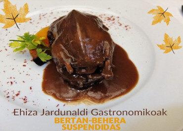 Suspendidas las Jornadas Gastronómicas de Caza